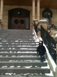 Jack on Steps of Main Building