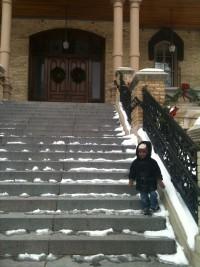 Jack on Steps of Main Building