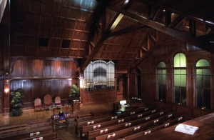 Woodworth Chapel (interior, view of organ), Tougaloo College