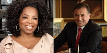 Oprah Winfrey and Enver Yucel